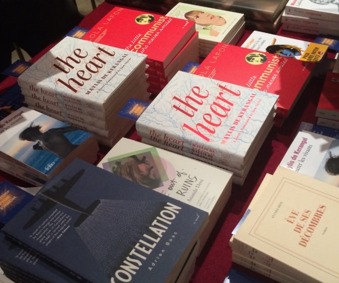 Selection of French fiction at Albertine Books