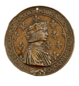 Medal depicting Louis XII of France. Collection: Dr. Stephen K. and Janie Woo Scher