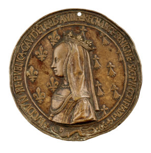 Obverse of medal by Nicolas Leclerc depicting Anne of Brittany.