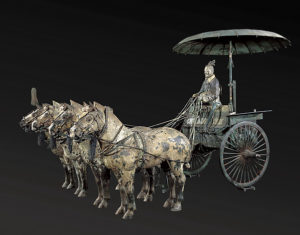 Bronze chariot from the Qin dynasty