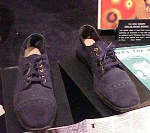 The blue suede shoes that inspired the song.